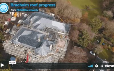 Braeholm roof progress